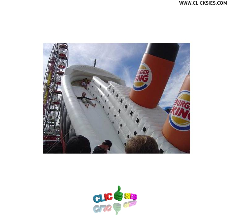 Titanic sinking sponsored by Burger King - www.clicksies.com