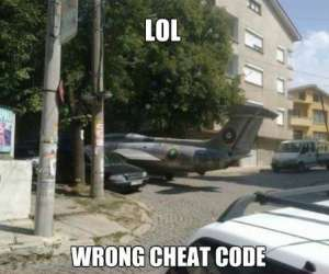 Wrong cheat code...